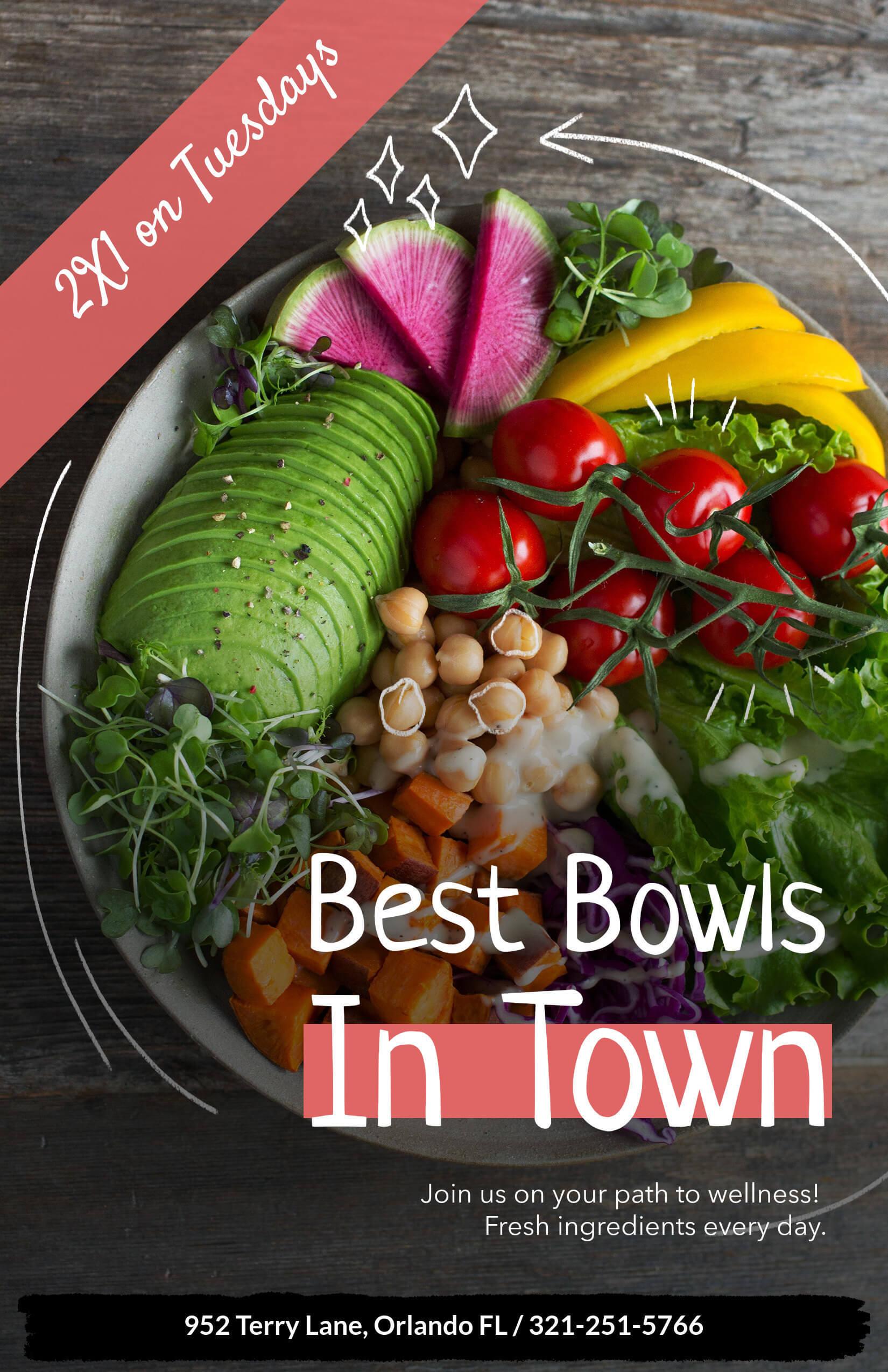 Flyer For Bowl Restaurants