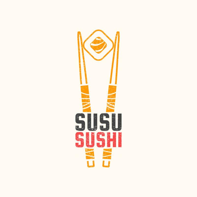 Sushi Restaurant Logo Image