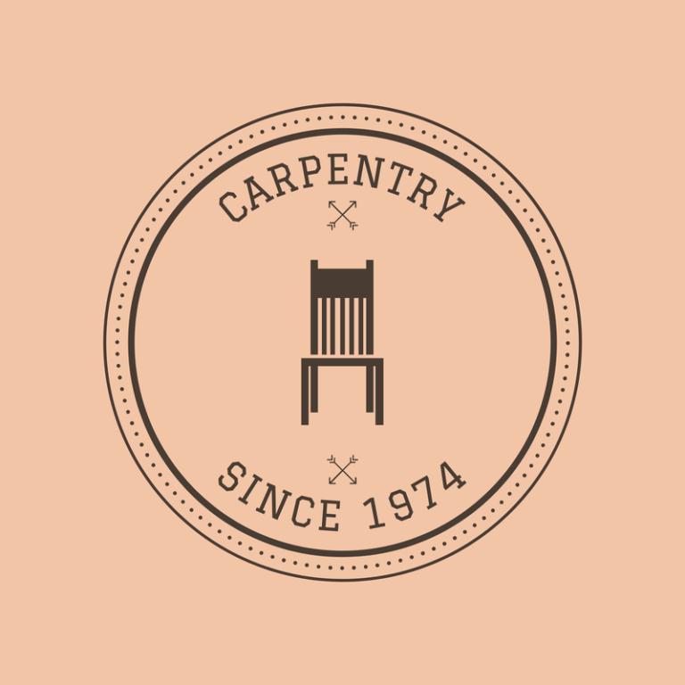 Carpentry Logo Maker For A Vintage Carpentry