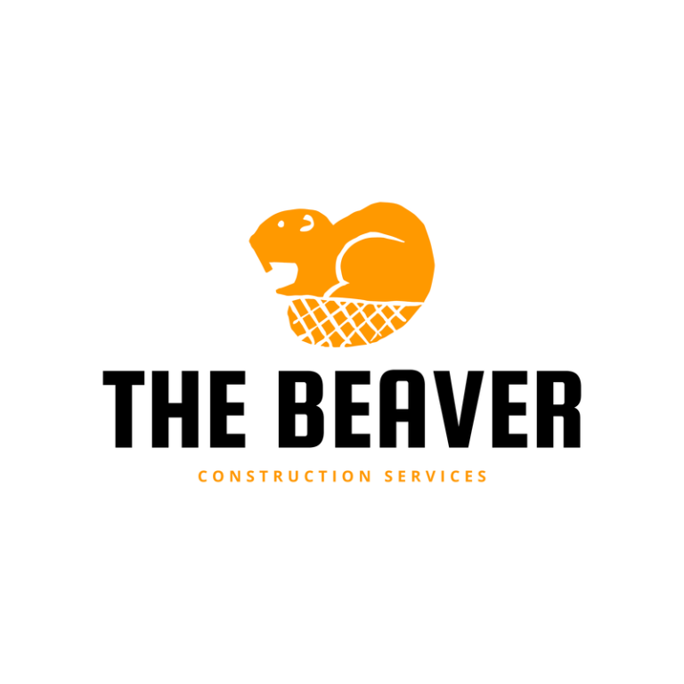 Construction Company Logo Maker With Beaver Icon