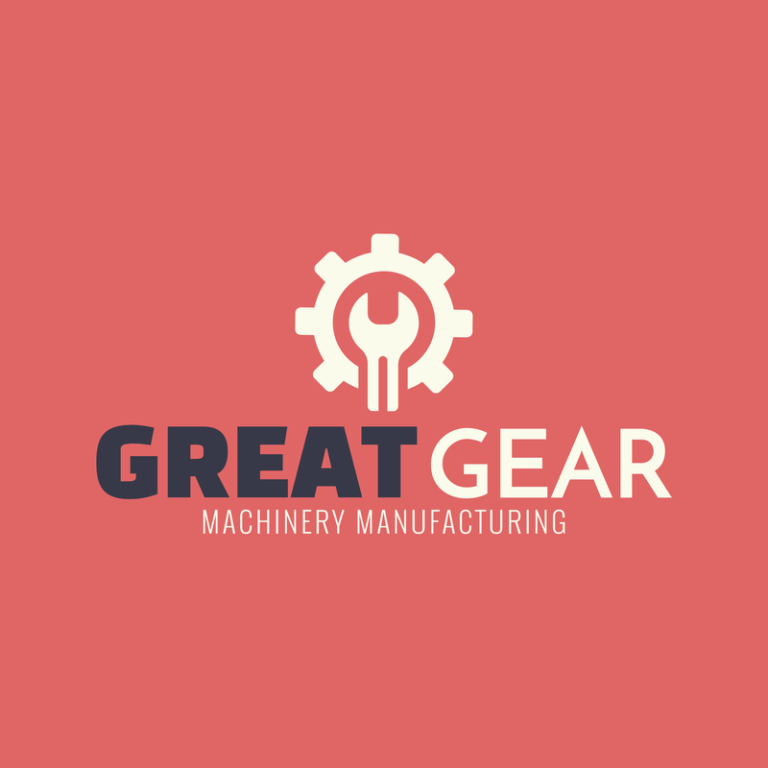 Logo Template For Machine And Manufacturing Businesses