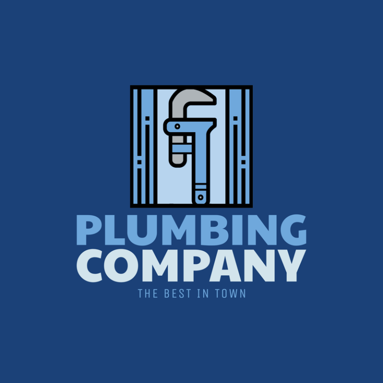 Online Logo Maker For A Plumbing Company With Wrench Icon