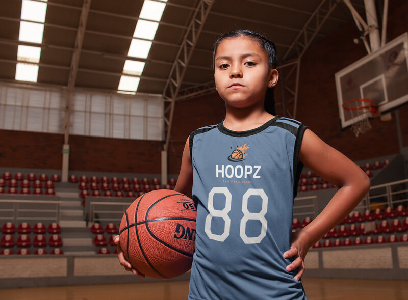 Basketball Jersey Maker Portrait Of A Kid At The Court