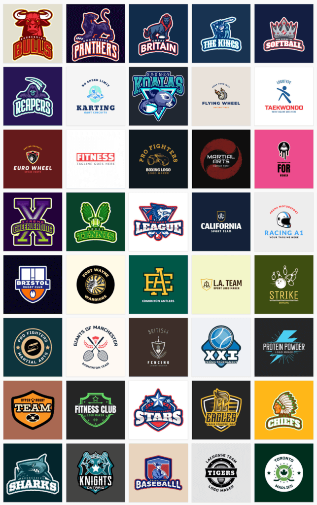 Sports Logo Maker Featuring Different Sports Logo Templates