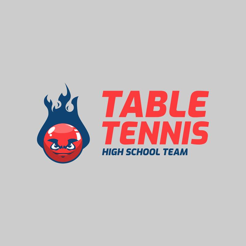 Table Tennis Ball Logo