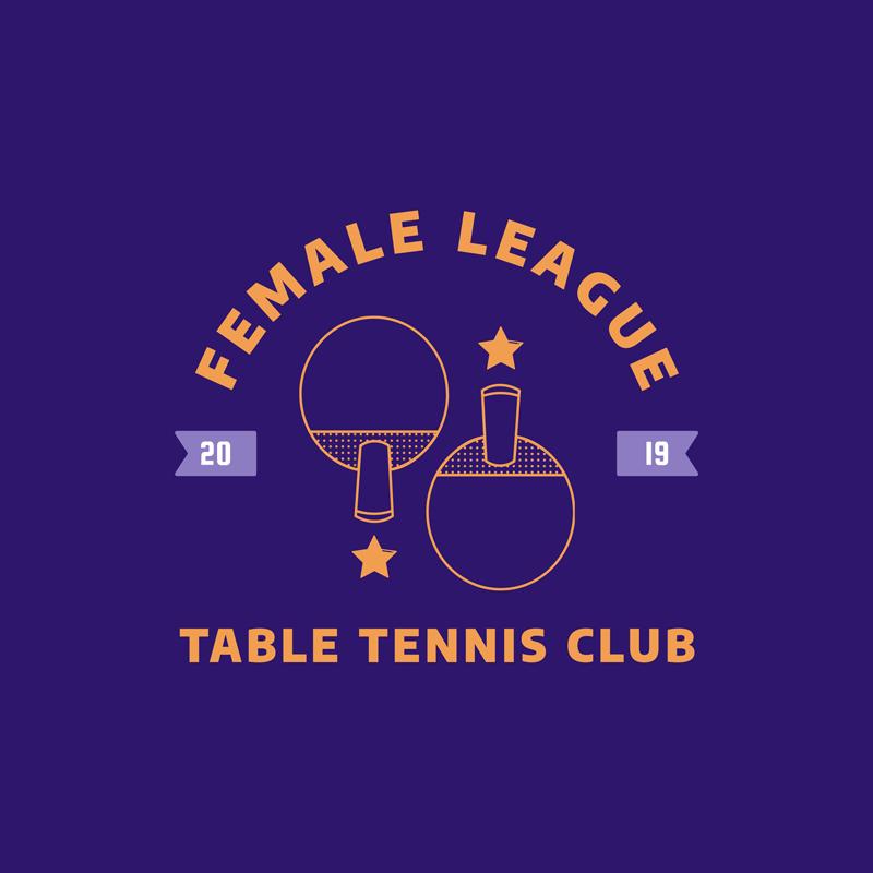 Table Tennis Logo Maker Junior League