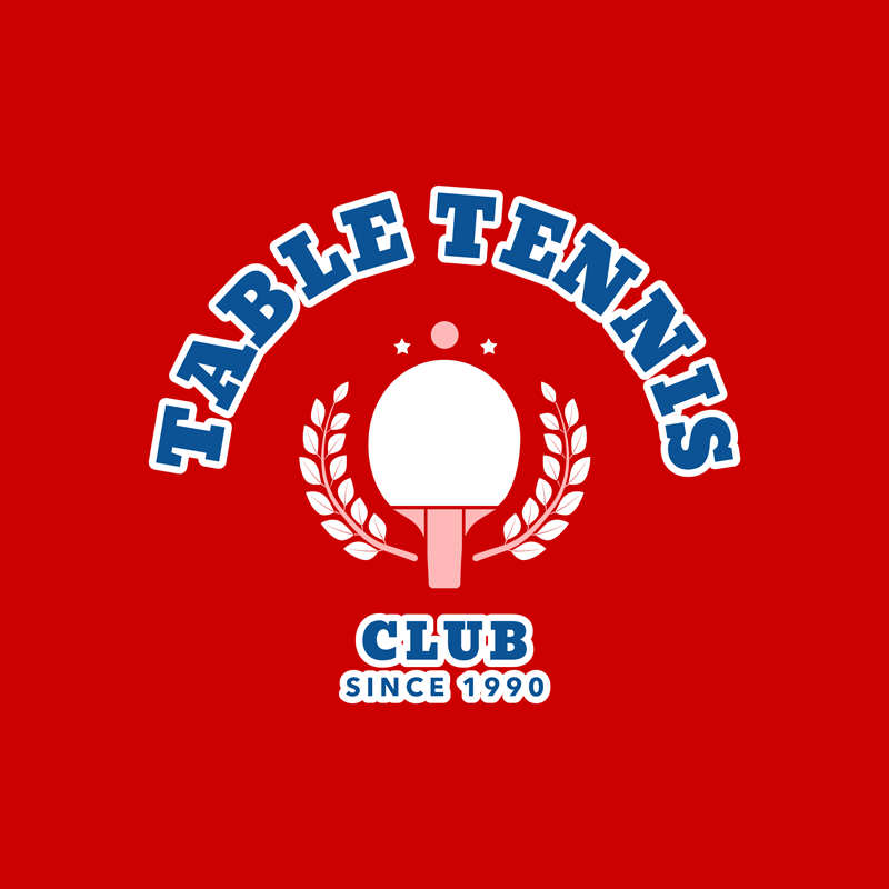 Table Tennis Logo Template Racket