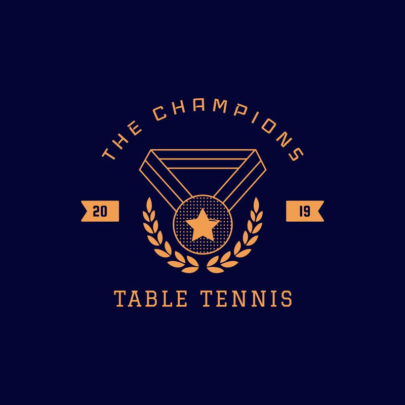 Table Tennis Team Logo Minimalist