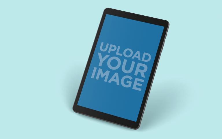 Mockup Of A Samsung Galaxy Tab A On A Surface 25052