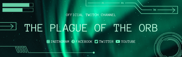 Twitch Offline Banner Creator With Aurora Borealis Background 1036a