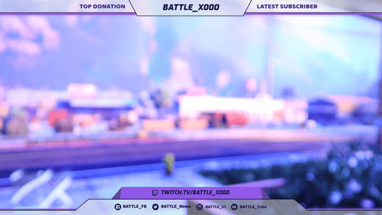 Livestream Twitch Overlay Design Template 1065c