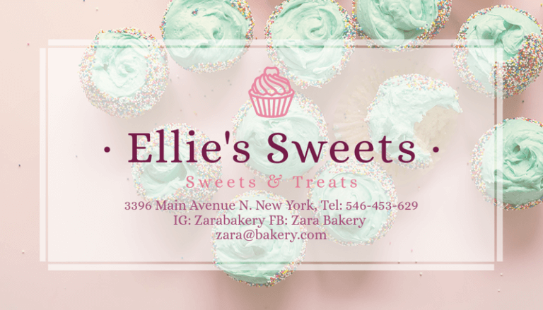 Delicacy Cake Bakery Business Card Maker