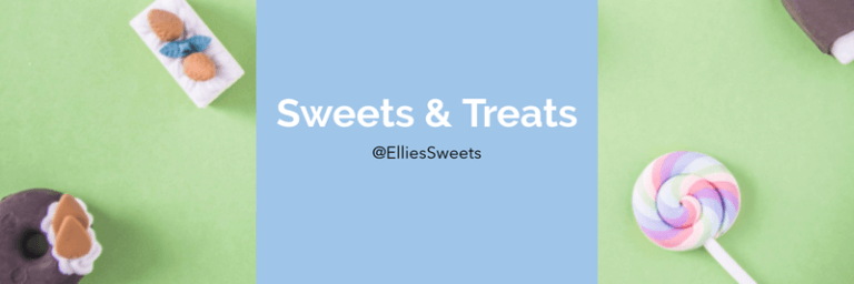 Twitter Header Generator For A Candy Shop