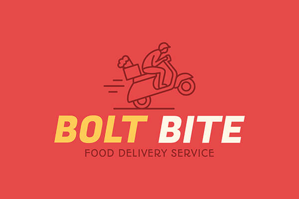 Food Delivery Logo Maker Example