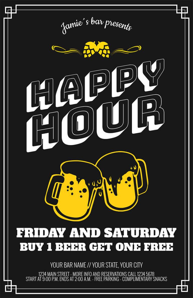 Bar Flyer Happy Hour Copy