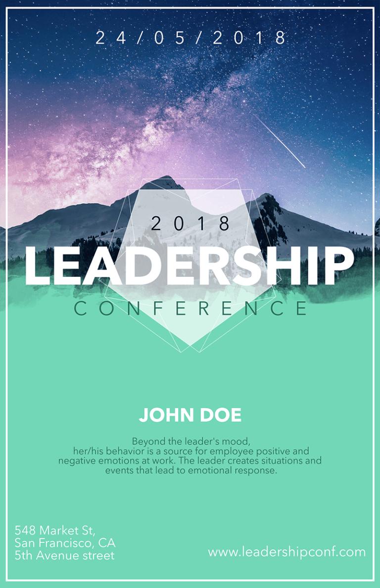 Conferencia Flyer Leadership