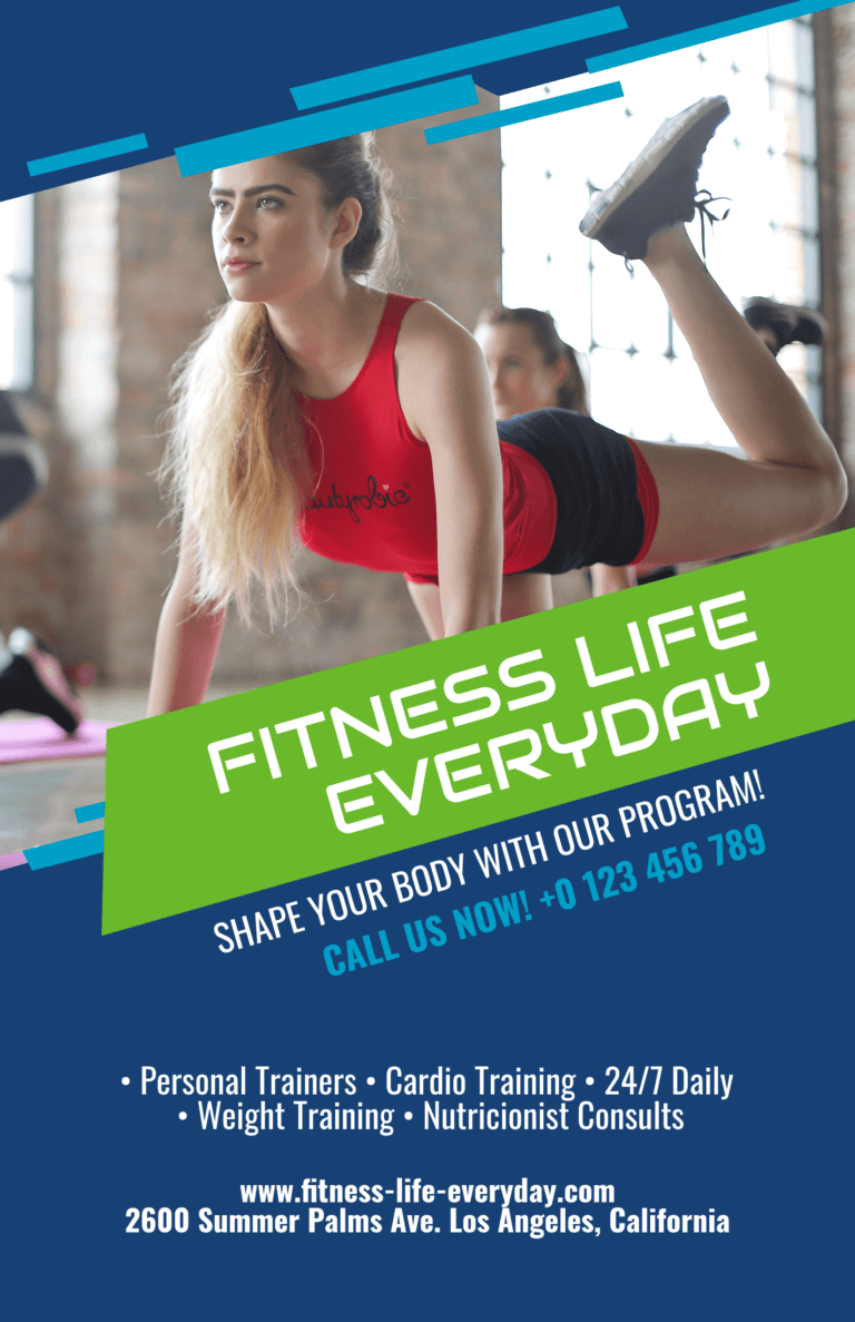 Make a Fitness Flyer