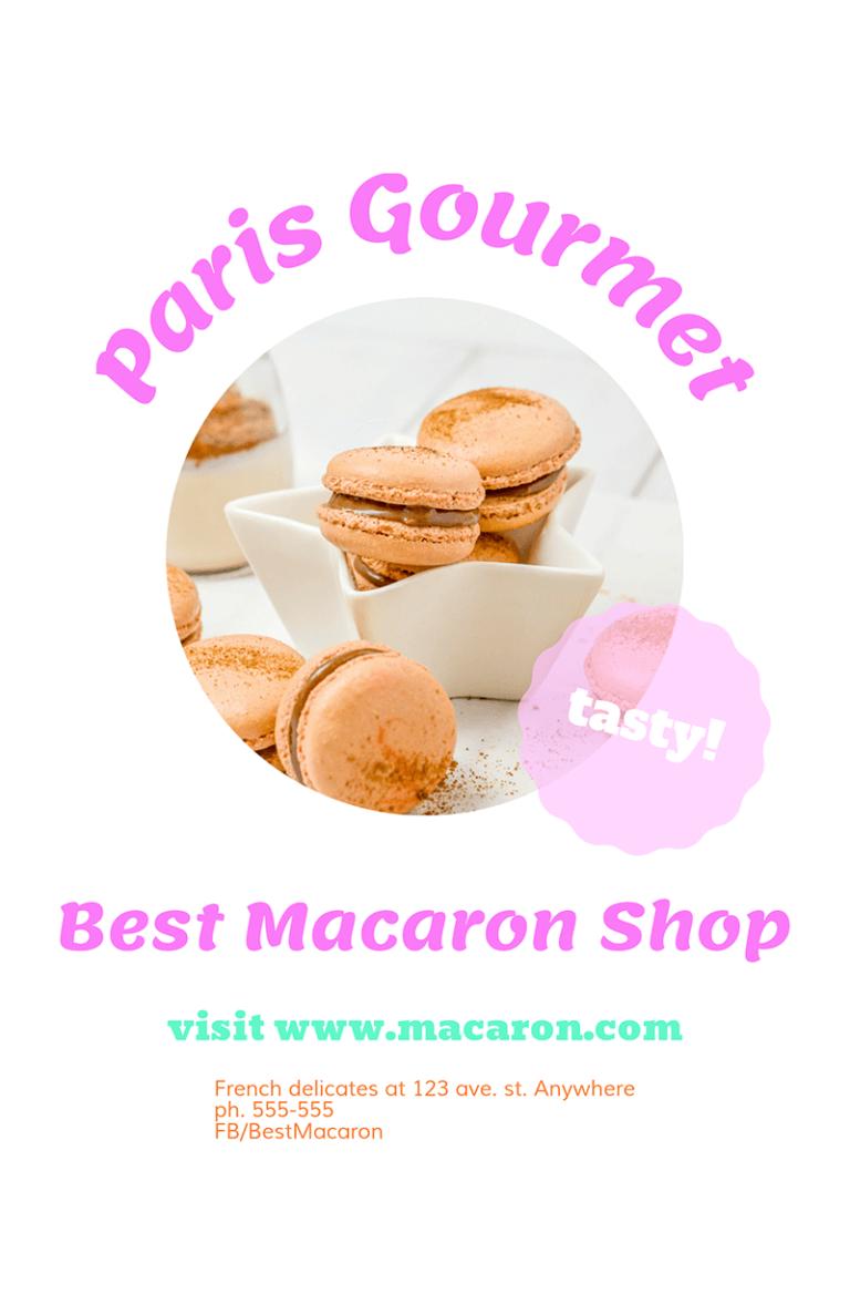 Food Flyer Macarons