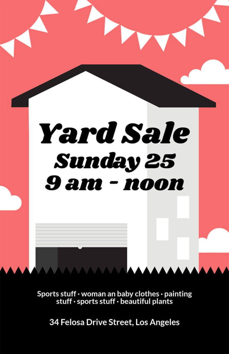 Yard Sale Flyer Copy