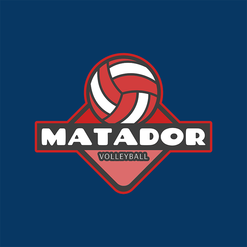 Logo Design Template For A Volleyball Club