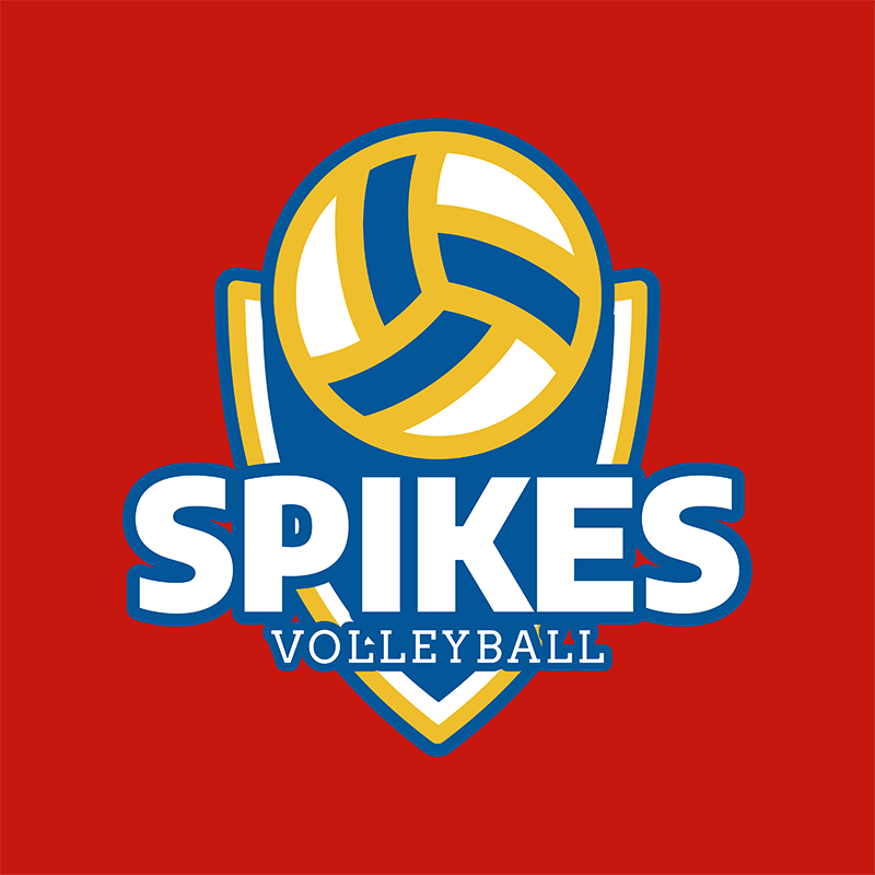 Volleyball Team Logo Template