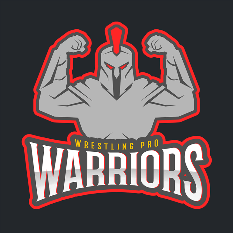 Pro Wrestling Logo Creator With A Spartan Warrior Illustration 1540d