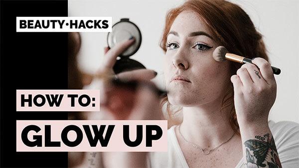 Minimalistic Youtube Thumbnail Maker For A Beauty Hacks Vlog